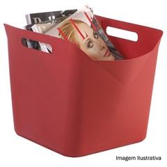 Cesto Flexível Quadrado de Plástico Vermelho 25 Litros  Ref. 17193668     - Keter