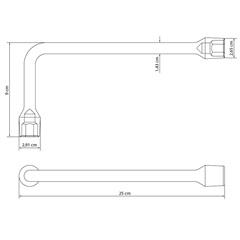 Chave Biela em Aço 19 Mm  42805/119 - Tramontina