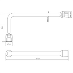 Chave Biela em Aço 19mm Cromada - Tramontina