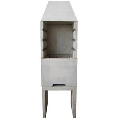 Churrasqueira Lisa em Concreto 220x75cm Cinza - Redentor