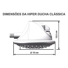 Chuveiro Elétrico 5500w 127v Hiper Ducha Clássica Branco  - Cardal