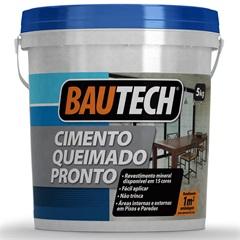 Cimento Queimado Pronto Platina  5kg  - Bautech