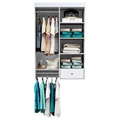 Closet Suspenso 135x90cm Branco Textura - Albatroz
