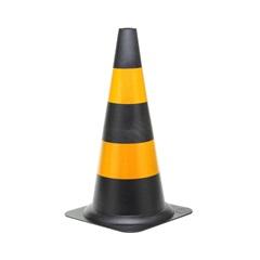 Cone de Sinalização 50 Cm Nv Preto E Amarelo - Dura Plus
