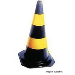 Cone de Sinalização 50cm Nv Preto/Amarelo - Dura Plus