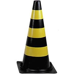 Cone de Sinalização 75cm Nv Preto/Amarelo - Dura Plus