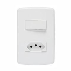 Conjunto 1 Interruptor Simples E Tomada 2p+T 10 a 4x2 Duale Up 853021 - Iriel