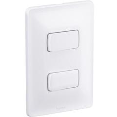 Conjunto 2 Interruptores Paralelos 10a 4x2 Zeffia 250v  - Pial Legrand
