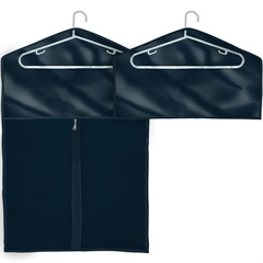 Conjunto com 2 Capas para Roupas Pequeno E Médio 1x55x90cm Azul - Boxgraphia