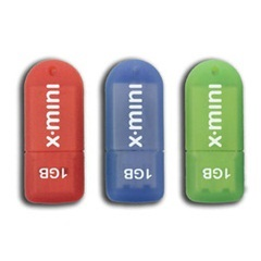 Conjunto com 3 Mini Pendrive Ideal Notebook Color 1gb  - Patriot