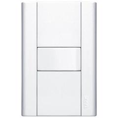 Conjunto de 1 Interruptor Simples com Placa Modulare Branco 10a 250v