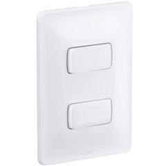 Conjunto de 1 Interruptor Simples E 1 Interruptor Paralelo Zeffia 4x2 10 a 250 V 680103 - Pial Legrand