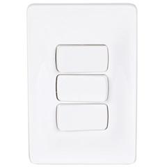 Conjunto de 1 Interruptor Simples E 2 Interruptores Paralelos 4x2 10 a 250 V 680108 - Pial Legrand