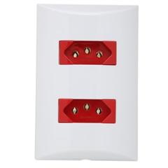 Conjunto de 2 Tomadas Vermelhas 20a 4x2 Brava 559414 - Iriel