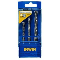 Conjunto de Brocas para Concreto com 3 Peças de 5, 6 E 8mm  - Irwin