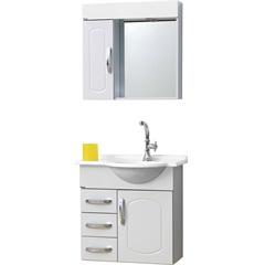 Conjunto de Gabinete E Espelho Aspen 64 Cm Branco - Bonatto