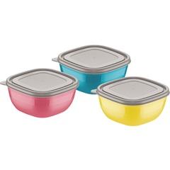 Conjunto de Potes 3 Peças Coloridos - Tramontina