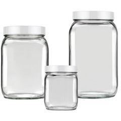Conjunto de Potes Quadrado Branco - Invicta