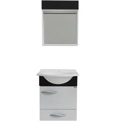 Conjunto de Toucador E Armário Belle 45 Cm Branco E Preto - Bonatto