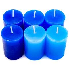 Conjunto de Velas Baunilha Degrade com 6 Velas Azul - Garden Light