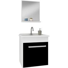 Conjunto Gabinete Smart 400 Branco/Preto - Gaam