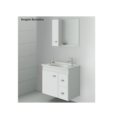 Conjunto Gabinete Smart 600 Branco        - Gaam