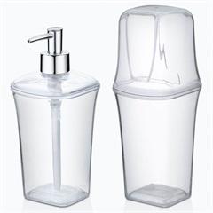Conjunto para Banheiro 2 Peças Transparente - Arthi