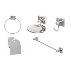 Conjunto para Banheiro Cristal Top com 5 Peças Ref: 005k-Ctcrcrc - Moldenox