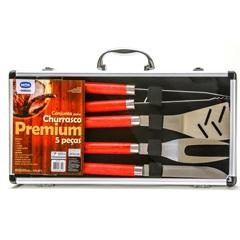 Conjunto para Churrasco Premium 5 Peças Ref. 3319 - Mor