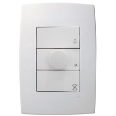 Controle de Ventilador 160w 220v Pialplus Branco  - Pial Legrand