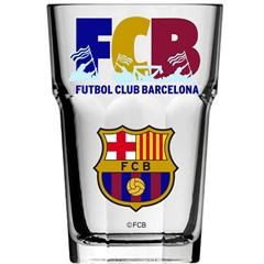 Copo Country em Vidro Futebol Club Barcelona 400ml Transparente - Libbey