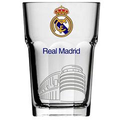 Copo Country em Vidro Real Madrid 400ml Transparente - Libbey