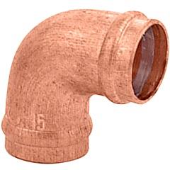 Cotovelo 90° em Cobre com Solda 15x15mm Cobreado - Ramo Conexões