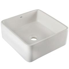 Cuba de Apoio para Banheiro Borda Arredondada Loft Branca 35x35cm - Celite