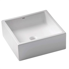 Cuba de Apoio para Banheiro Borda Reta Loft Branca 35x35cm - Celite