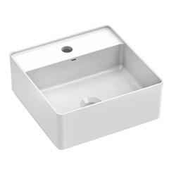 Cuba de Apoio para Banheiro com Mesa Platinum Branca 35x35cm - Incepa