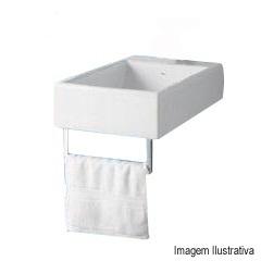 Cuba Especial com Porta Toalha 30x50cm Branco Gelo L102c - Deca