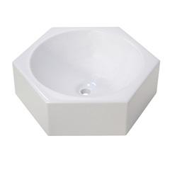 Cuba para Banheiro Hexagonal Luxe Branca - Irmãos Corso