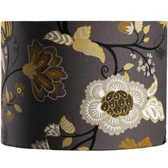 Cúpula Cilíndrica Floral Amarela 25cm - LS Ilumina