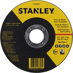 "Disco Abrasivo de Corte Inox 4.1/2""X1,6mmx7/8"" - Stanley"