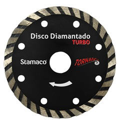 Disco Diamantado Tornado Turbo Corte a Seco 4""