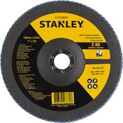 """Disco Flap 7x7/8"""" com Grão Zirconia 80 - Stanley"""