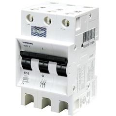 Disjuntor Din Curva C 16a Tripolar Ref. 5sx1 316-7 - Siemens