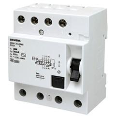 Dr Tetrapolar 63a  30ma 5sm13460 Siemens - Siemens