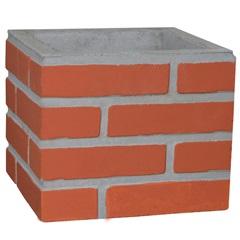 Duto Liso em Concreto 30x25cm Vermelho - Redentor