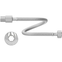 """Engate Flexível em Aço Inoxidável 1/2"""" 60cm Cromado - Censi"""