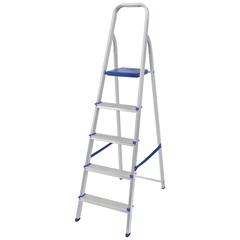 Escada de Alumínio 5 Degraus Uso Doméstico - Mor