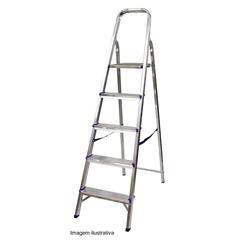 Escada de Alumínio com 05 Degraus 1005 - Alustep