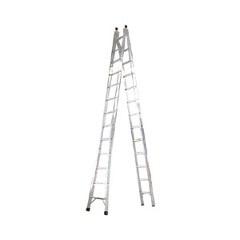 Escada de Alumínio Profissional 13 Degraus de Abrir E Estender 2 em 1 Ref. P013 - Alustep