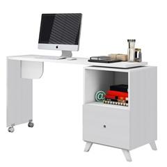 Escrivaninha Giratória Carinho em Mdp Mimo 75x142cm Branca - Albatroz